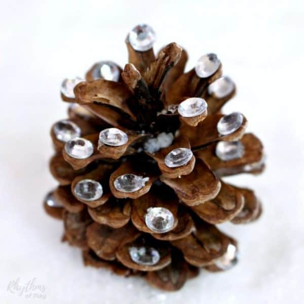 Add a little rustic bling to your DIY home decor with this rhinestone pinecone nature craft.