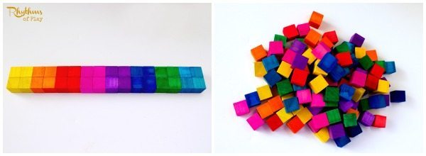 DIY Rainbow Colored Wood Blocks