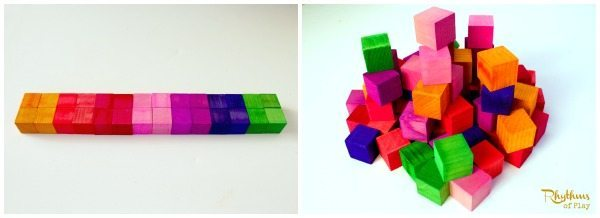 DIY Rainbow Colored Wood Blocks