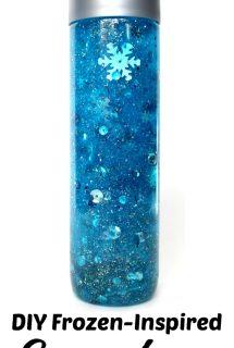 DIY Frozen-Inspired Snowstorm Sensory Bottle