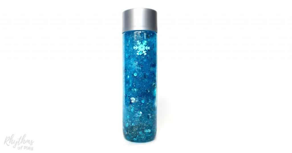 DIY Frozen-Inspired Snowstorm Glitter Sensory Bottle - VIDEO | RoP