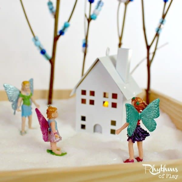 Fairy winter wonderland small world pretend play