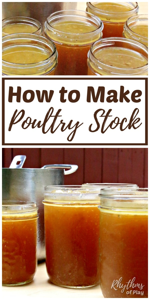 How to make chicken or turkey stock