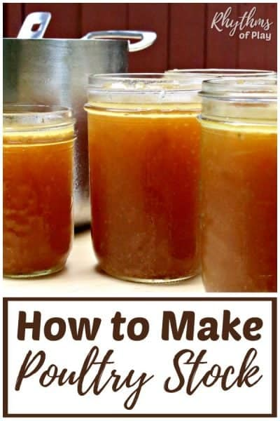 How to make homemade chicken or turkey stock.