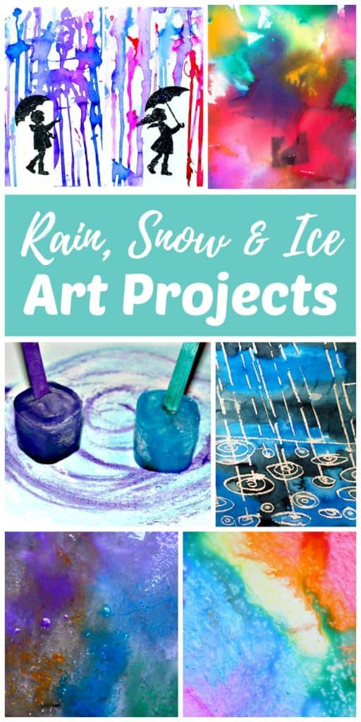 rain art projects, snow art projects and ice painting art projects