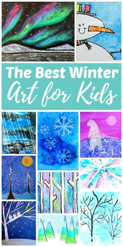 Winter art projects and painting ideas for children