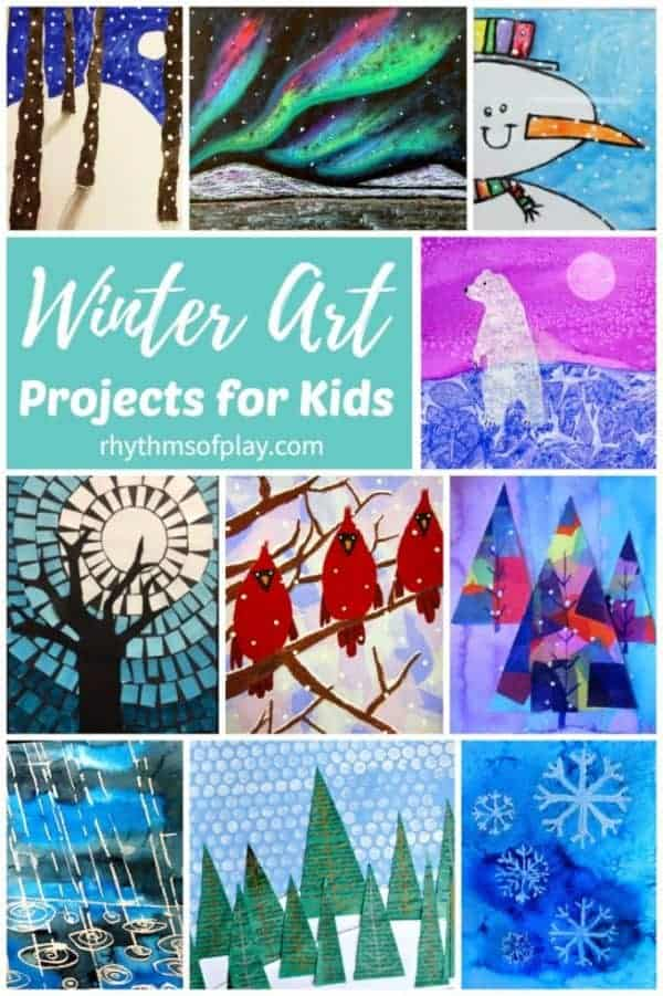 Winter art ideas and winter art projects for children