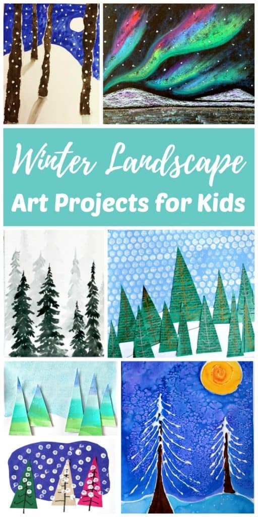 Winter Landscape art projects for kids and teens