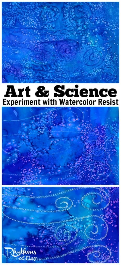 Fun art & science for kids. Try this simple STEAM experiment with watercolor resist. What resist medium do you think will resist watercolors the best and why?