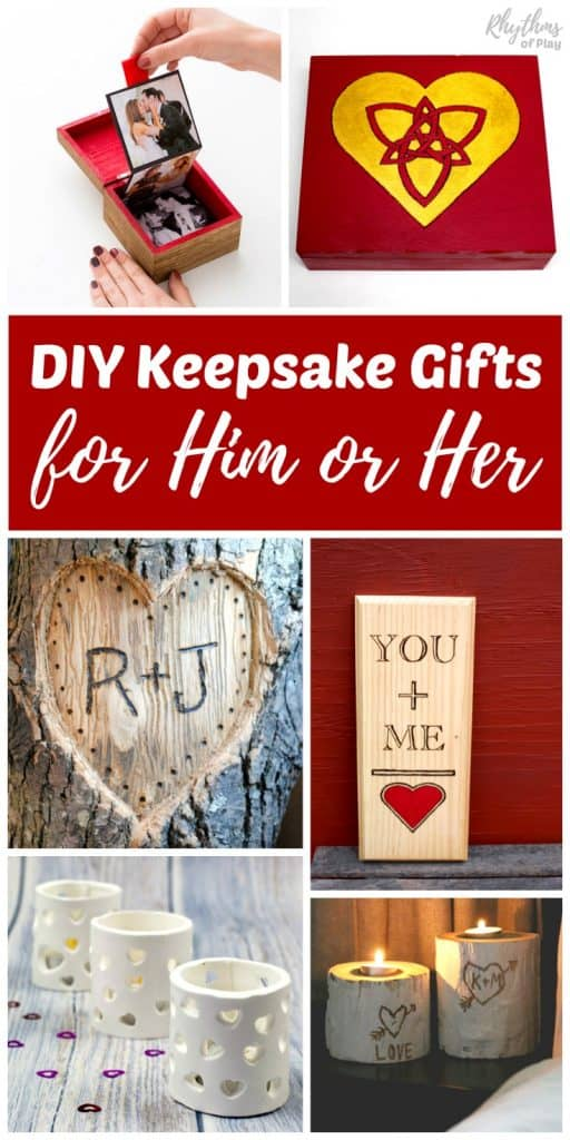 Handmade gifts for him or her are always a hit with loved ones. These DIY Keepsake gift ideas for men and women are perfect for Valentine's Day, weddings, anniversary's, and any other special occasion. #DIYgiftideas #giftideas #giftsforhim #giftsforher #giftsforcouples #giftsforlovers #handmadegifts #homemadegifts