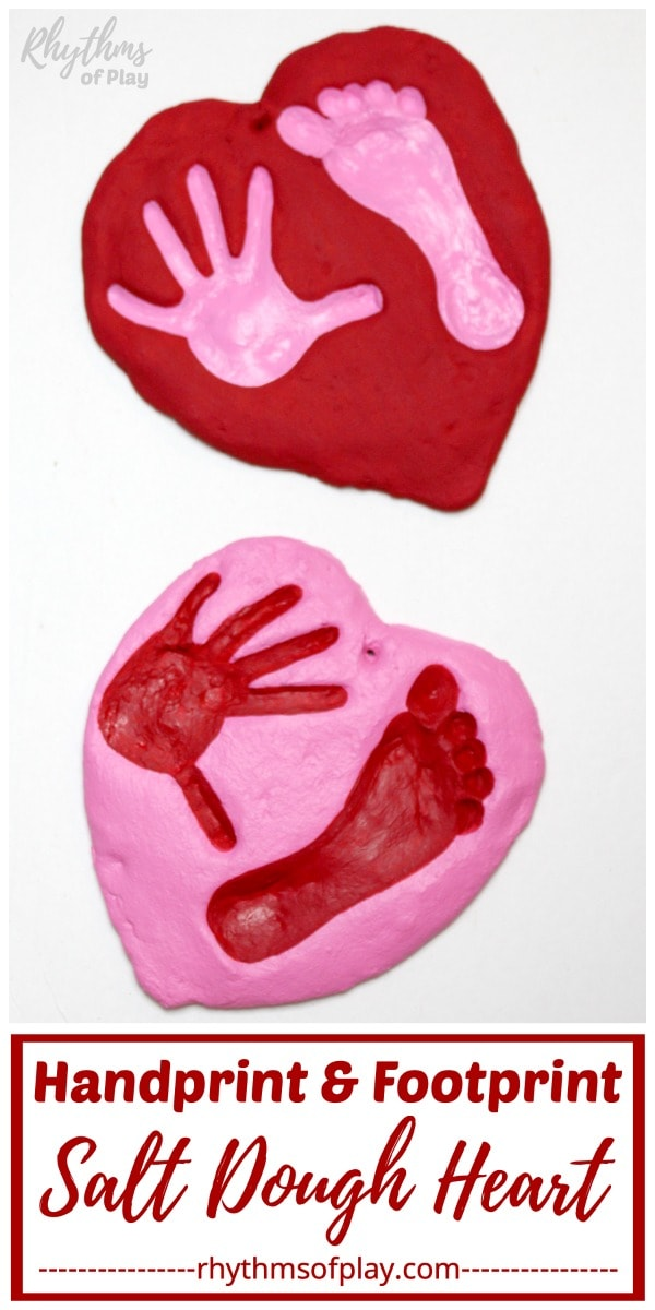 handprint and footprint heart craft