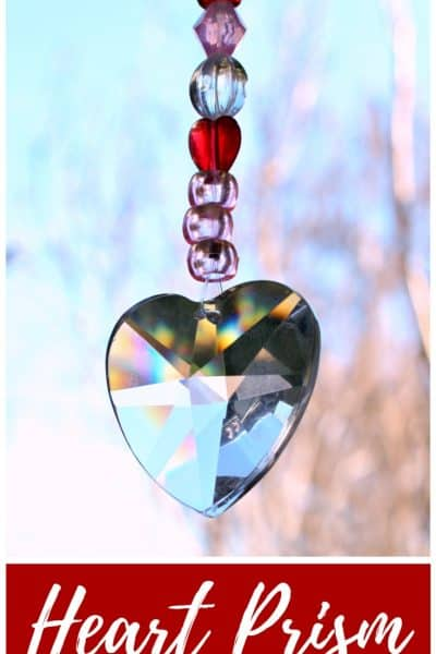 Heart Prism Pony Bead Suncatcher