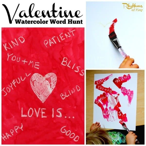 Valentine Watercolor Word Hunt