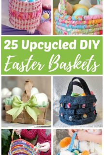 DIY Upcycled Easter Baskets From Recycled Materials