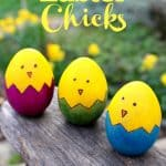 Easter Chicks Wooden Egg Craft