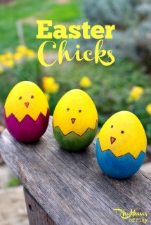 DIY Easter Chicks Wooden Egg Craft
