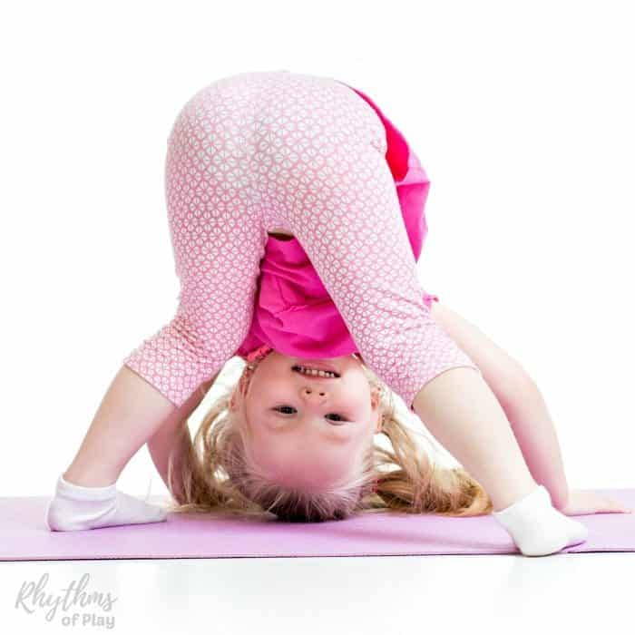 Yoga for kids. Tips on how to start a yoga practice. Toddlers, preschoolers, and kids of all ages can benefit by doing this stress releasing exercise. Learn beginning poses, basic sequences, activities, and ideas to teach kids yoga.