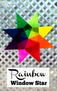 Making a rainbow window star is a great fine motor activity for both kids and adults. Make a beautiful rainbow suncatcher while strengthening the fine motor muscles of the hand. Suncatcher | Window Star Tutorial | Waldorf Window Star | Origami | Kids Craft | Craft | DIY Project