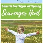 Signs of Spring Scavenger Hunt for Kids