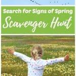 Signs of spring scavenger hunt for kids