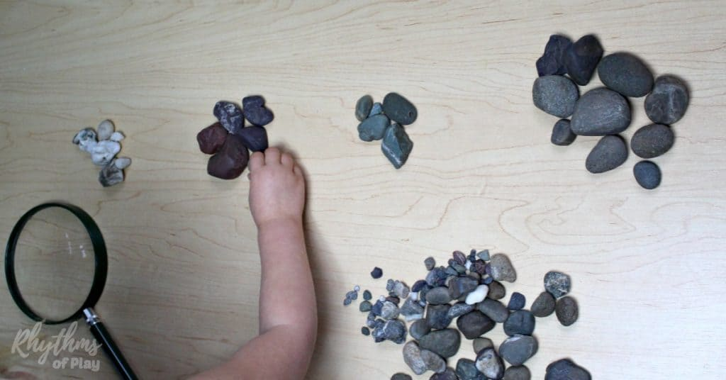 Sorting and classifying rocks is an easy STEM activity for kids. Learn about earth science with this simple geology lesson for kids.