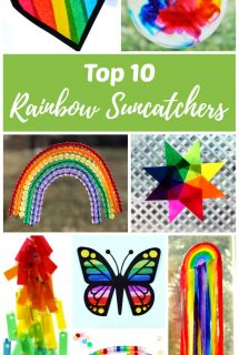 Top 10 Rainbow Suncatchers Kids Craft Ideas