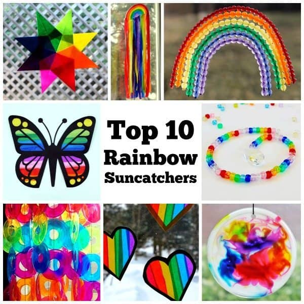 Rainbow suncatchers are a wonderful way to add a splash of color to your view any time of year. Click through to find a gorgeous collection of rainbow suncatchers to choose from. Make one to brighten your day! Rainbow Craft | Suncatcher | Saint Patrick's Day | DIY Project | Kids Craft