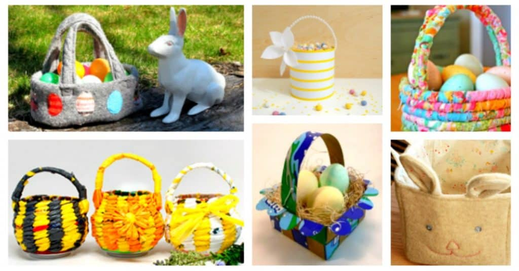 Basket Making Using Recycled Materials : Diy upcycled easter baskets from recycled materials