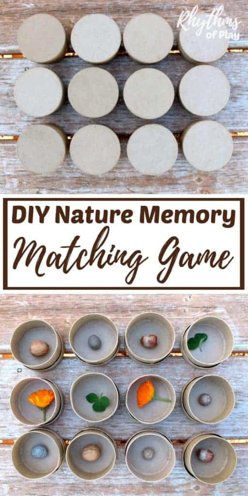 DIY Nature Memory Matching Game
