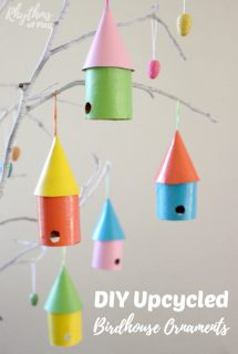 DIY Upcycled Birdhouse Ornaments