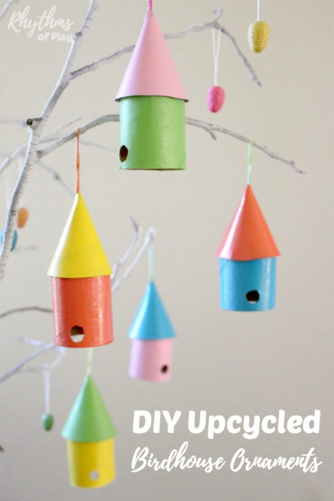 Diy Upcycled Birdhouse Ornaments Rhythms Of Play