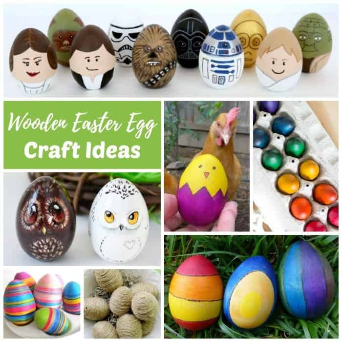 Diy wooden egg craft ideas for easter rhythms of play for Wooden eggs for crafts