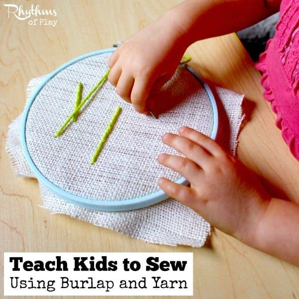 how to teach sewing to a child