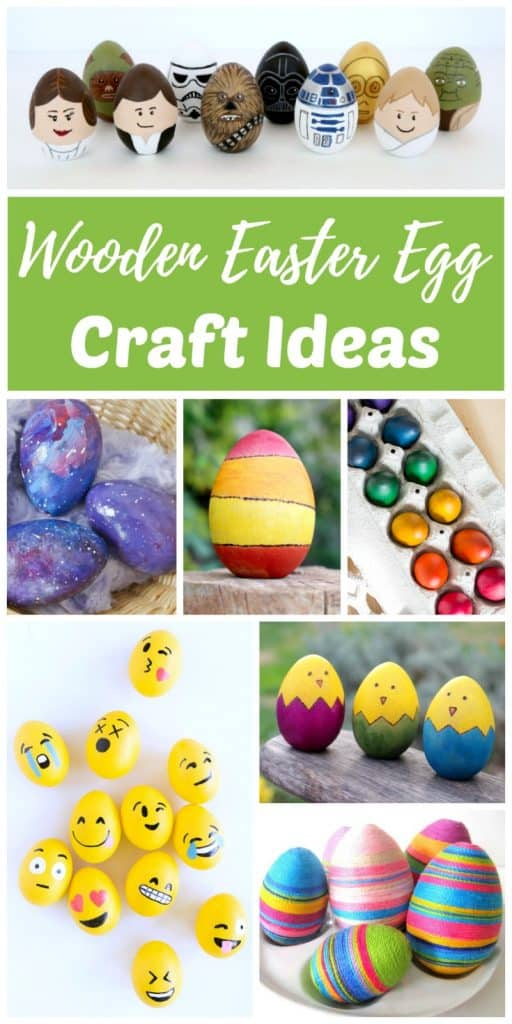 DIY wooden egg craft ideas are a fun alternative to traditional Egg decorating for Easter and the Spring Vernal Equinox. Decorating wooden eggs is a fun way to create Easter keepsakes that you can re-use again year after year. Kids love to hunt them down on Easter egg hunts as much as they like to find them in their Easter Baskets as a non-candy alternative. Wooden Easter eggs like these also make gorgeous spring home decor.