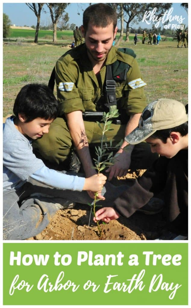 Children planting a tree