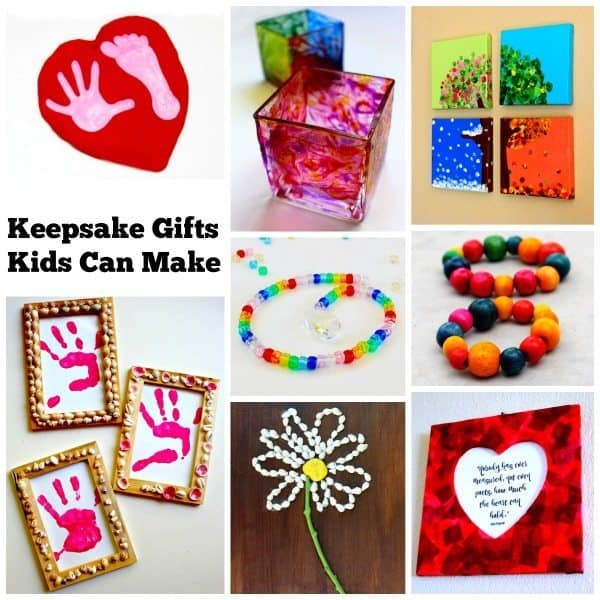 Each of these keepsake gifts kids can make comes with a full tutorial. Detailed instructions with photos are provided for each one. They are a perfect gift idea for birthday's, Christmas, Mother's Day, Father's Day, or any other special occasion! Gift Ideas | DIY Projects | Kids Crafts | Kid Made Gifts