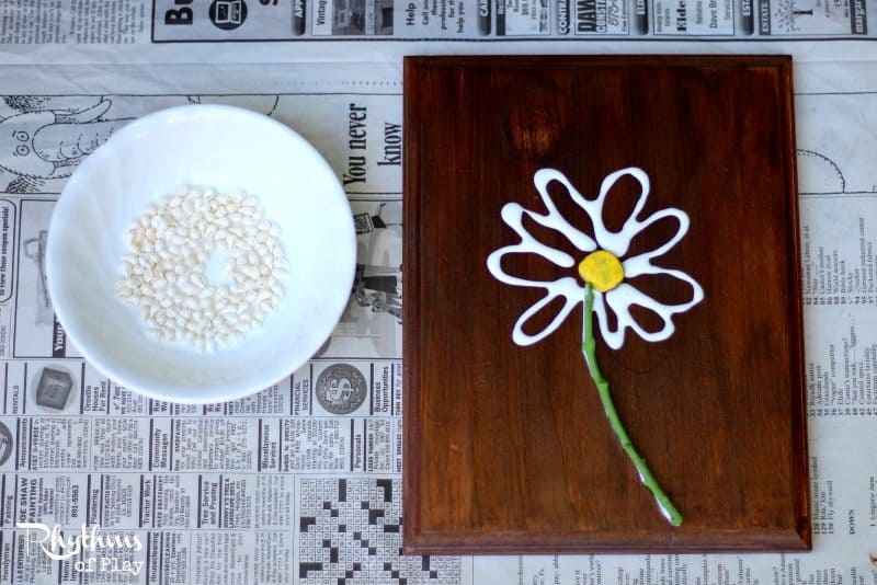 This shell flower nature craft is an excellent fine motor activity for kids. Once finished they make gorgeous home decor and are a great gift idea for Mother's Day, Christmas, and birthday's! DIY Project | Kids Craft | Kid-made Gift | Nature Art