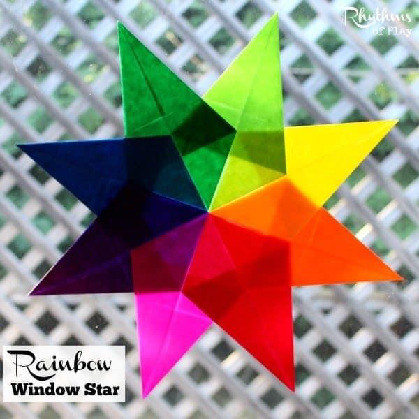 Waldorf rainbow window star