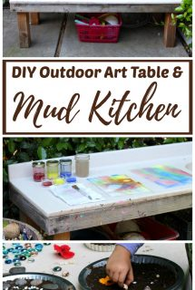 DIY Outdoor Art Table and Mud Kitchen