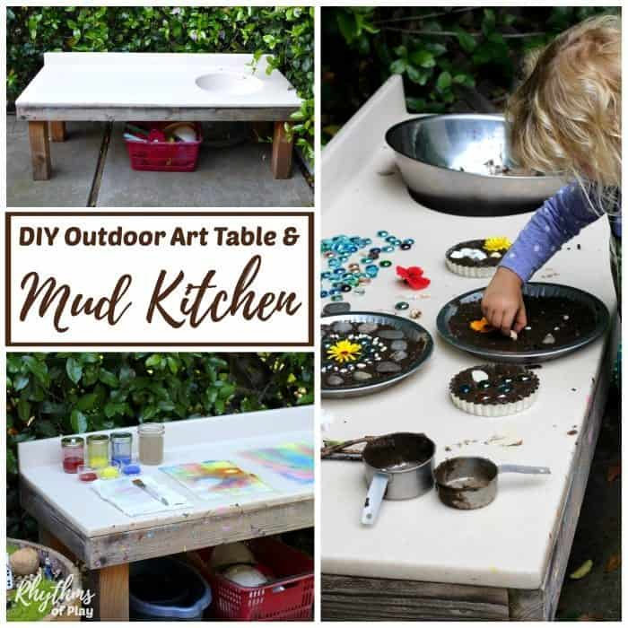 DIY outdoor mud kitchen