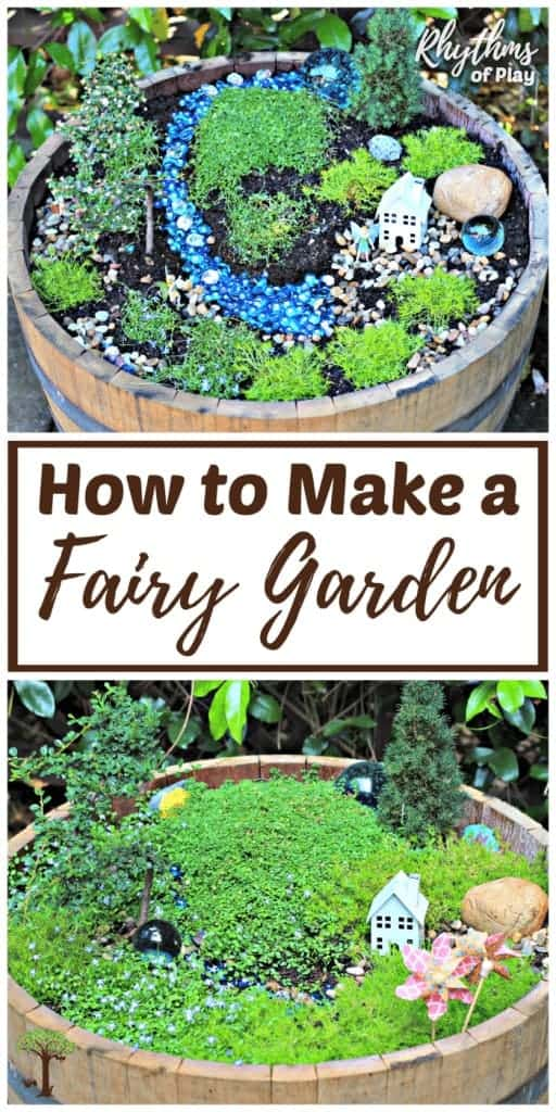 DIY fairy garden - How to make a fairy garden from start to finish