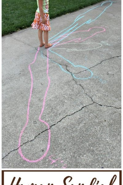 Human Sundial Shadow Science Experiment