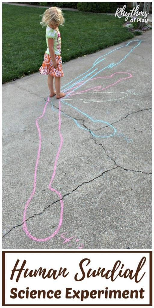 Human sundial science experiment for kids