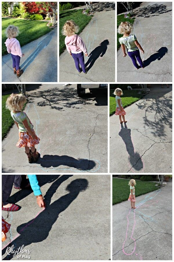 Human sundial shadow science photo collage