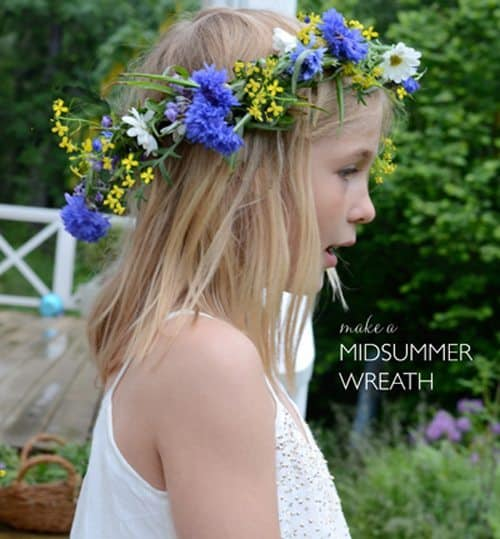 How to make a midsummer flower crown or wreath