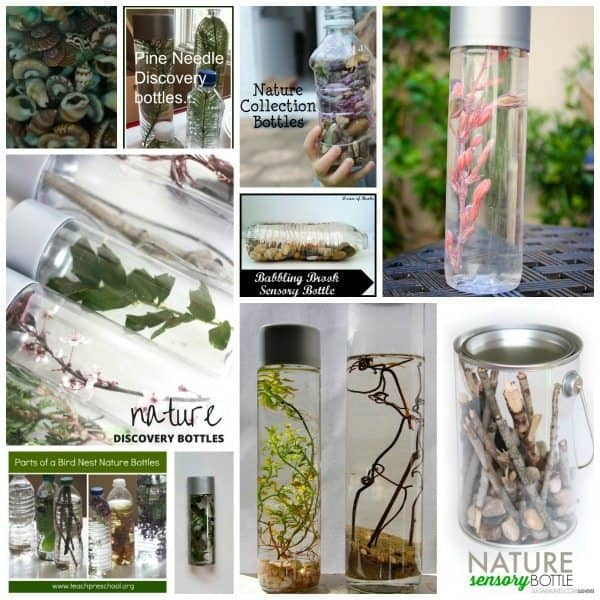 Nature Sensory Bottles for Kids