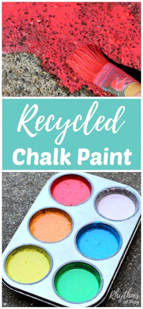 DIY chalk paint for outdoor art