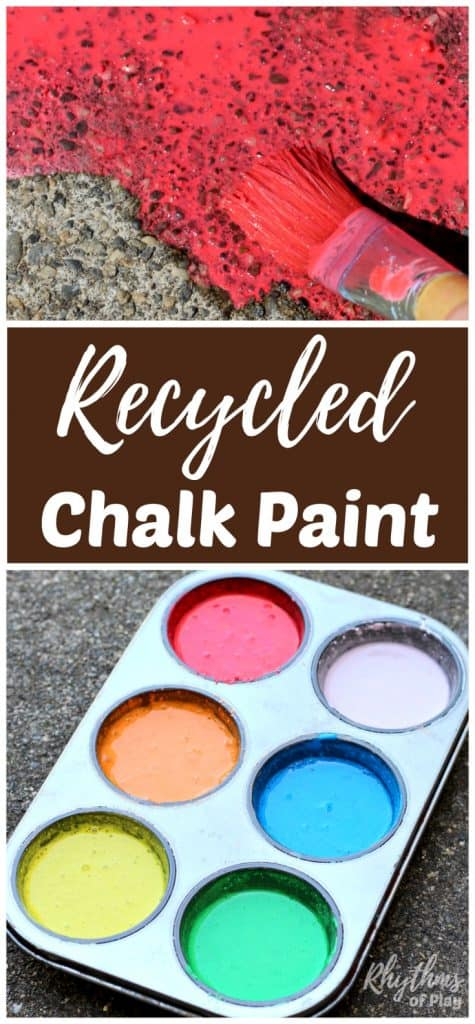 DIY Recycled Chalk Paint for Outdoor Art