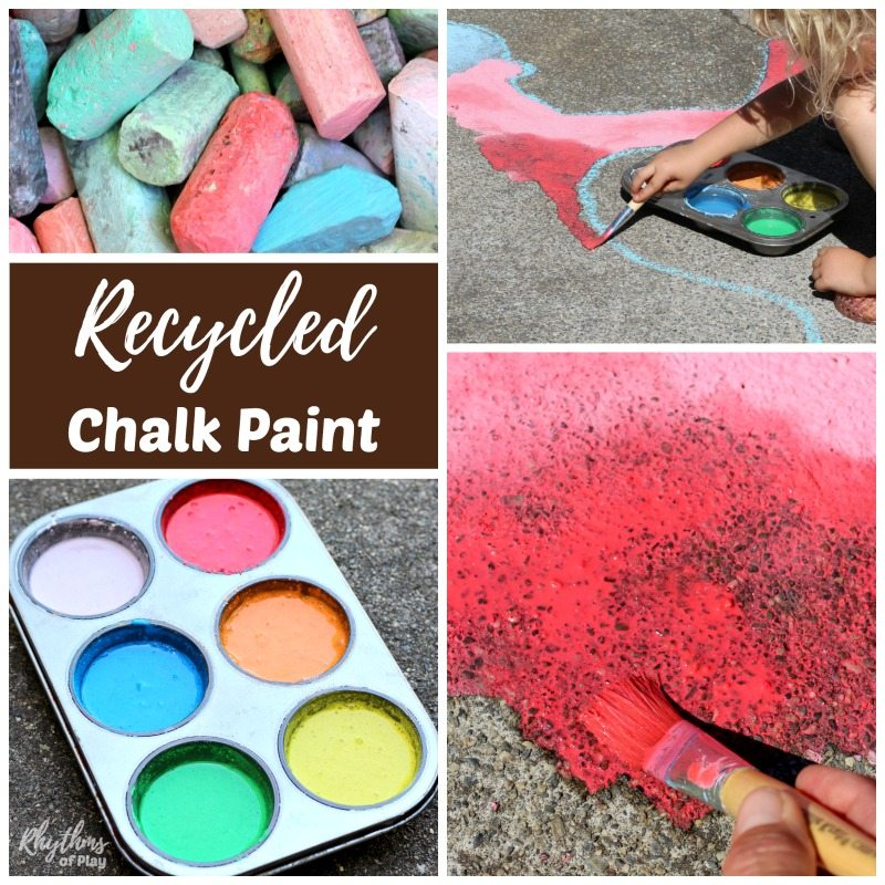 DIY chalk paint - chalk paint for outdoor art