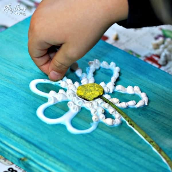 shell daisy craft